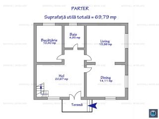 Vila cu 4 camere de vanzare in Lipanesti, 138.84 mp