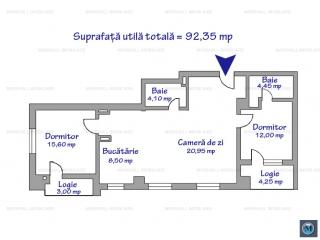 Apartament 3 camere de vanzare, zona Marasesti, 92.35 mp