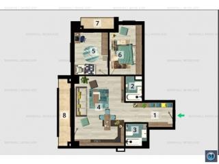 Apartament 3 camere de vanzare, zona Marasesti, 80.6 mp
