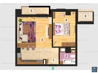 Apartament 2 camere de vanzare, zona Marasesti, 52.8 mp