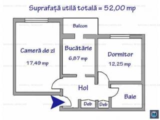 Apartament 2 camere de vanzare, zona Enachita Vacarescu, 52 mp