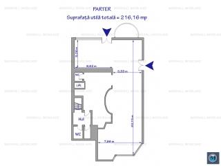 Spatiu comercial de inchiriat, zona Ultracentral, 216.16 mp