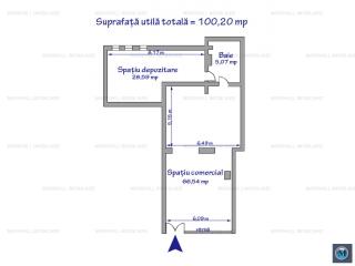 Spatiu comercial de inchiriat, zona B-dul Bucuresti, 100.20 mp