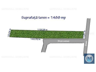 Teren intravilan de vanzare, zona Vest, 1488 mp