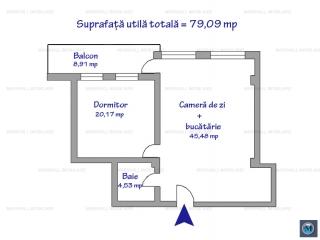 Apartament 2 camere de vanzare, zona Malu Rosu, 79.09 mp