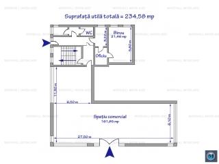 Spatiu comercial de inchiriat, zona P-ta Mihai Viteazu, 234.58 mp