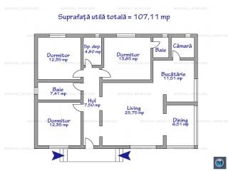 Casa cu 4 camere de vanzare in Tatarani, 107.11 mp