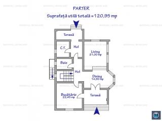 Vila cu 5 camere de vanzare in Strejnicu, 293.37 mp