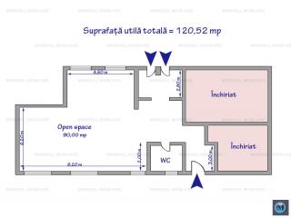 Spatiu comercial de inchiriat, zona Central, 120.52 mp