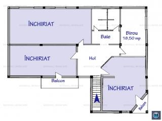 Spatiu  birouri de inchiriat, zona P-ta Mihai Viteazu, 18.5 mp