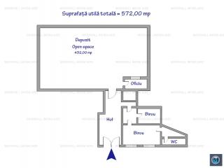 Spatiu industrial de inchiriat, zona Sud, 432 mp
