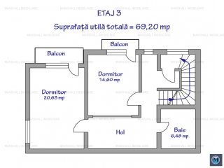 Apartament 3 camere de vanzare, zona Republicii, 112.12 mp