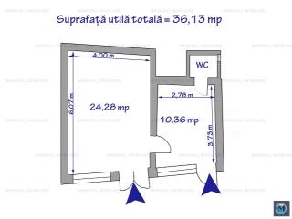 Spatiu comercial de inchiriat, zona Ultracentral, 36.13 mp