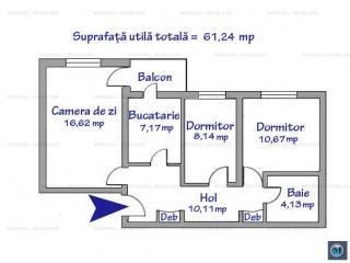 Apartament 3 camere de vanzare, zona Enachita Vacarescu, 61.24 mp