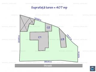 Teren intravilan de vanzare, zona Malu Rosu, 407 mp