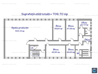 Spatiu industrial de inchiriat, zona Cantacuzino, 706.70 mp