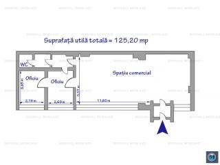 Spatiu comercial de inchiriat, zona Ultracentral, 125.20 mp