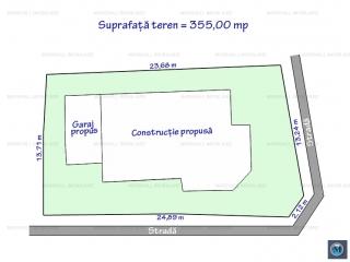 Teren intravilan de vanzare, zona Eroilor, 355 mp