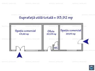 Spatiu comercial de vanzare, zona Cina, 93.92 mp