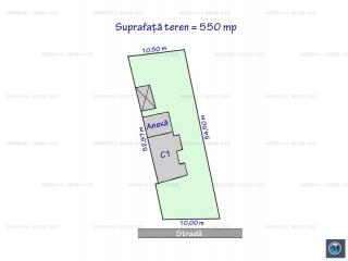 Teren intravilan de vanzare, zona P-ta Mihai Viteazu, 550 mp