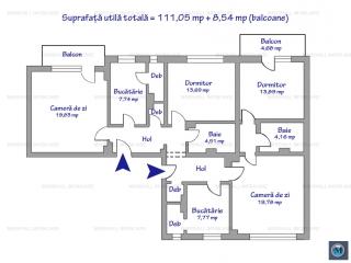 Apartament 4 camere de vanzare, zona Democratiei, 111.05 mp