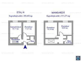 Apartament 4 camere de vanzare in Sinaia, 67.7 mp