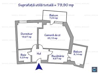 Apartament 2 camere de vanzare, zona Gheorghe Doja, 79.90 mp
