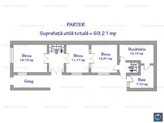 Spatiu  birouri de inchiriat, zona Central, 100.24 mp