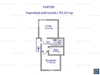 Vila cu 3 camere de vanzare, zona Mihai Bravu, 74.40 mp