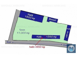 Spatiu industrial de inchiriat, zona Exterior Sud, 650 mp