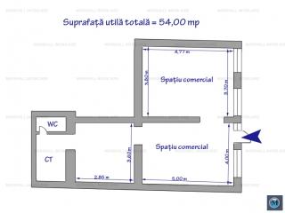 Spatiu comercial de inchiriat, zona Ultracentral, 54 mp