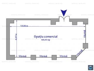 Spatiu comercial de inchiriat, zona Ultracentral, 58 mp
