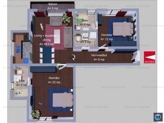 Apartament 3 camere de vanzare, zona Albert, 87.5 mp