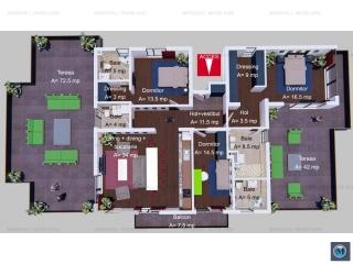 Apartament 4 camere de vanzare, zona Albert, 128 mp