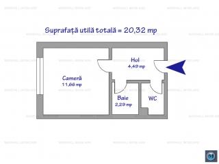 Garsoniera de vanzare, zona Exterior Est, 20.32 mp