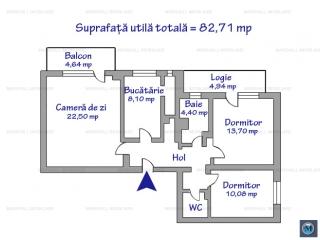 Apartament 3 camere de vanzare, zona Marasesti, 82.71 mp