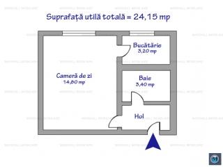 Garsoniera de vanzare, zona Republicii, 24.15 mp