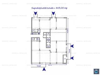 Spatiu  birouri de inchiriat, zona Nord, 443 mp