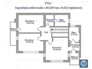 Vila cu 4 camere de vanzare in Paulesti, 190.71 mp