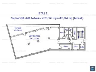 Spatiu  birouri de inchiriat, zona Ultracentral, 205.7 mp