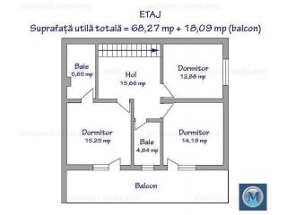 Vila cu 5 camere de vanzare, zona Exterior Est, 175 mp