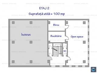 Spatiu  birouri de inchiriat, zona Cantacuzino, 100 mp