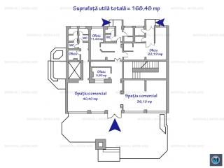 Spatiu comercial de inchiriat, zona Ultracentral, 168.48 mp