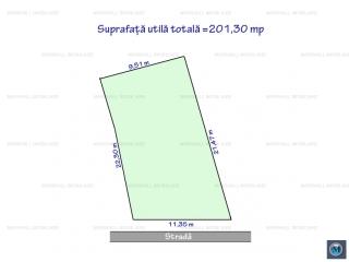 Teren intravilan de vanzare, zona Central, 201.3 mp