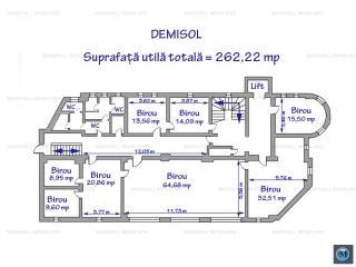 Spatiu  birouri de inchiriat, zona Central, 262.22 mp