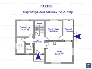 Vila cu 6 camere de inchiriat, zona Exterior Est, 203.98 mp