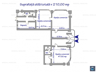 Spatiu comercial de inchiriat, zona Ultracentral, 210 mp