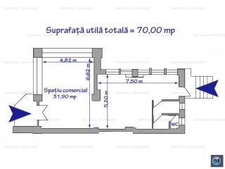 Spatiu comercial de inchiriat, zona Ultracentral, 70 mp
