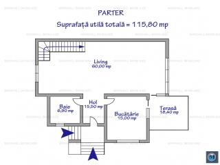 Vila cu 4 camere de vanzare in Paulesti, 207.25 mp