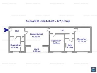 Apartament 3 camere de vanzare, zona Baraolt, 67.50 mp